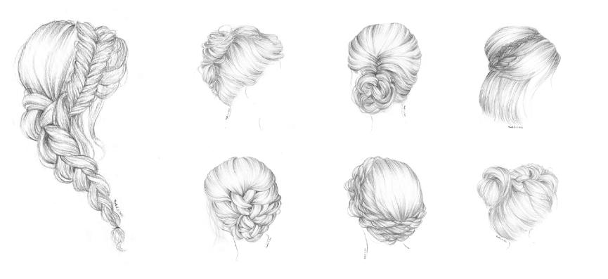 dessins coiffure